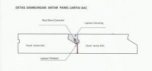 detail grouting pada sambungan